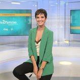 Paula Sainz-Pardo en el plató de 'La 2 Noticias'