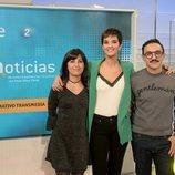 Paula Sainz-Pardo, Eva de Vicente y César Vallejo, de 'La 2 Noticias'