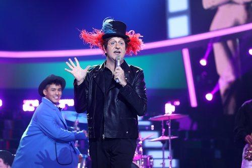 Manu Sánchez en su actuación de la Gala 7 de 'Tu cara me suena'