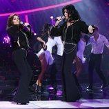 Anabel Alonso y Bibiana Fernández en la Gala 7 de 'Tu cara me suena'