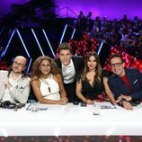 El jurado de 'Tu cara me suena' y Manel Fuentes en la Gala 7