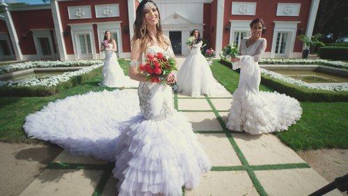 Cuatro novias posan en 'Cuatro Weddings'