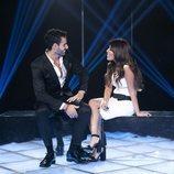 Asraf y Chabelita en la sala de expulsión en la Gala 9 de 'GH VIP 6'