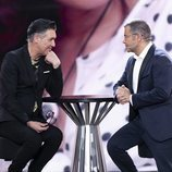 Ángel Garó charla con Jorge Javier Vázquez en la Gala 9 de 'GH VIP 6'