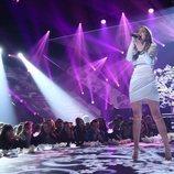 Marilia en su actuación como nominada en la Gala 8 de 'OT 2018'