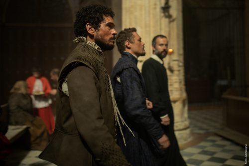 Pablo Molinero y Federico Aguado en el rodaje de la segunda temporada de 'La peste'