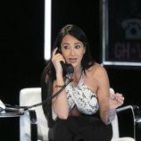 Aurah Ruiz llamando por teléfono en la gala 11 de 'GH VIP 6'