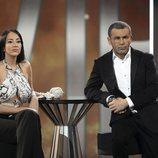 Aurah Ruiz, muy seria en el plató de 'GH VIP 6' durante la gala 11