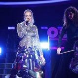 María Villalón como Zara Larsson en la Gala 9 de 'Tu cara me suena'