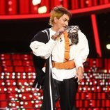 José Corbacho imita a Tino Casal en la Gala 9 de 'Tu cara me suena'