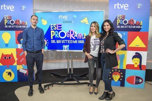 Alberto Casado, María Gómez y Marta Flich, presentadores de 'Ese programa del que usted me habla'