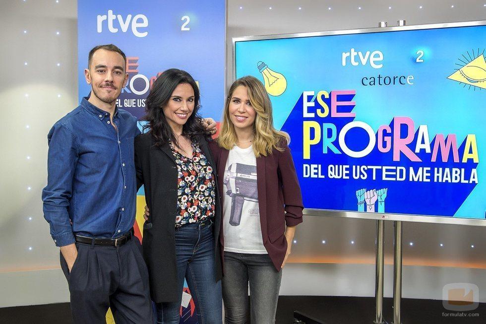 Alberto Casado, María Gómez y Marta Flich presentan 'Ese programa del que usted me habla'