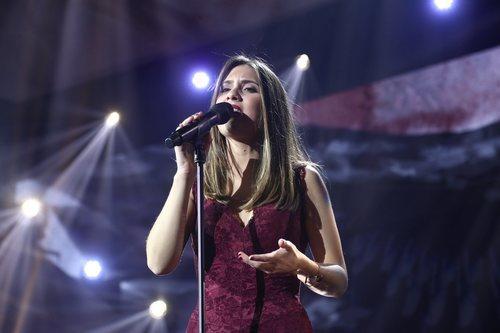 Sabela en su actuación de la Gala 10 de 'OT 2018'