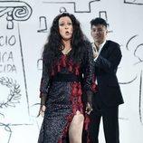 """María Villalón imita a Dolores Vargas """"La terremoto"""" en la Gala 10 de 'Tu cara me suena'"""