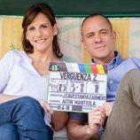Malena Alterio y Javier Gutiérrez en el making of de la temporada 2 de 'Vergüenza'