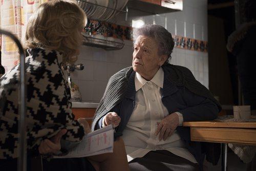 Mercedes y Herminia en el rodaje de la 20 temporada de 'Cuéntame cómo pasó'