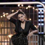 Mónica Hoyos, en el plató de 'GH VIP 6' en la gala 13 tras su expulsión
