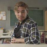 Carlos Cuevas en la promoción de la serie 'Merlí'