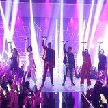 Los concursantes de 'OT 2018' en la actuación grupal de la Gala 12