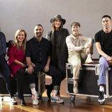 Los profesores de 'Fama a bailar' junto a la directora del casting en Madrid