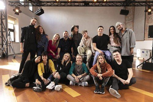 El equipo de 'Fama a bailar' posa en los castings de Madrid