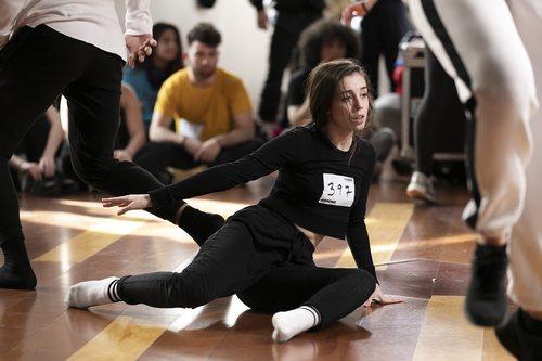 Aspirante a concursante en el casting de 'Fama a bailar' en Madrid