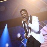 Famous, cantando en la Gala Final de 'OT 2018'