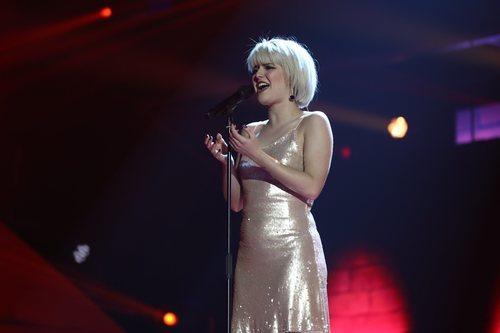 Alba Reche, actuando en la Gala Final de 'OT 2018'
