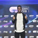 Famous, el ganador de 'OT 2018', en la rueda de prensa tras la final