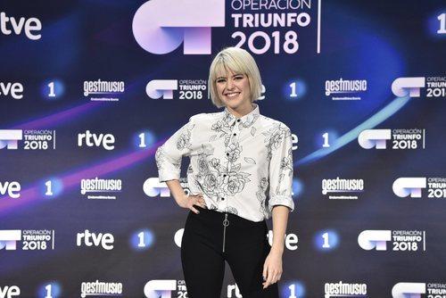 Alba Reche, la segunda finalista de 'OT 2018', en la rueda de prensa tras la final