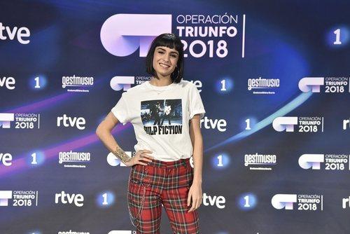 Natalia, la tercera finalista de 'OT 2018', en la rueda de prensa tras la final