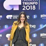 Sabela, la cuarta finalista de 'OT 2018', en la rueda de prensa tras la final