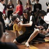 Dos bailarines participan en los castings de 'Fama a bailar' en Madrid