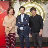 Samantha, Pepe y Jordi en la presentación de 'MasterChef Junior 6'
