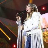 Gisela cantando en la Gala de Navidad de 'OT 2018'