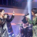 Pastora Soler y Vanesa Martín en la Gala de Navidad de 'OT 2018'