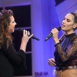 India Martínez y Niña Pastori en la Gala de Navidad de 'OT 2018'