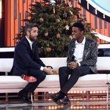 Famous y Roberto Leal en la Gala de Navidad de 'OT 2018'
