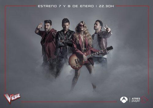 Los cuatro coaches de 'La Voz' en Antena 3 anuncia la fecha de estreno