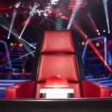 Sillón de 'La Voz' en el nuevo plató de Antena 3