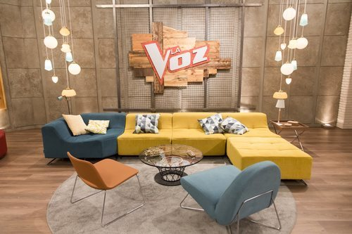 Sala de espera del plató de 'La Voz' en Antena 3