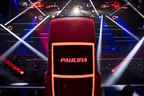 Sillón de coach de Paulina Rubio en 'La Voz'