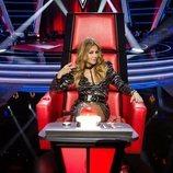 Paulina Rubio en su sillón como coach de 'La Voz'