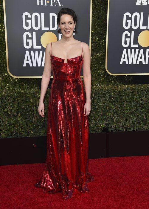 Phoebe Waller-Bridge en la alfombra roja de los Globos de Oro 2019