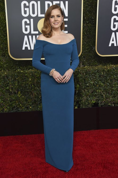 Amy Adams en la alfombra roja de los Globos de Oro 2019
