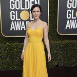 Rachel Brosnahan en la alfombra roja de los Globos de Oro 2019