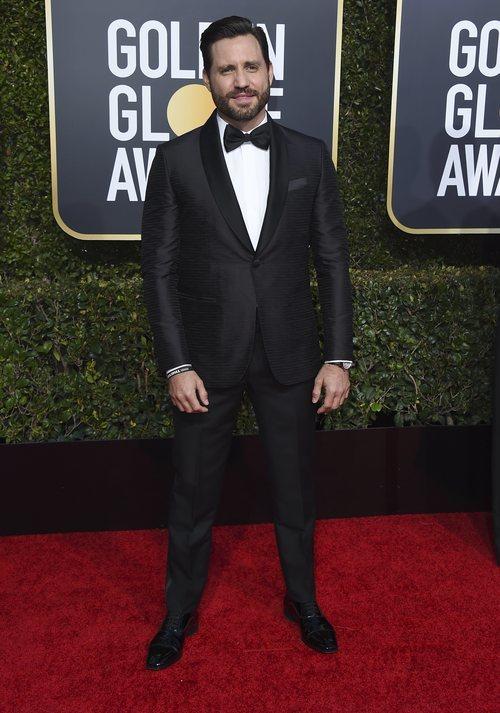 Edgar Ramírez en la alfombra roja de los Globos de Oro 2018