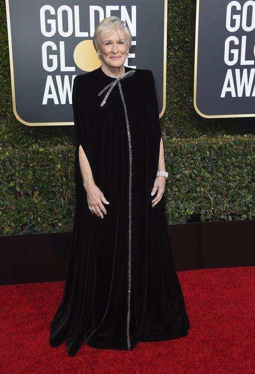 Glenn Close en la alfombra roja de los Globos de Oro 2019
