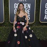 Heidi Klum en la alfombra roja de los Globos de Oro 2019