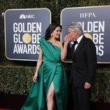 Michael Douglas y Catherine Zeta-Jones en la alfombra roja de los Globos de Oro 2019